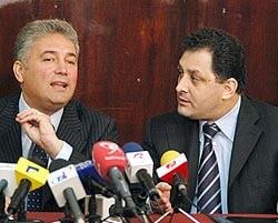 Procesul Videanu si Vanghelie, suspendat pentru ca niciunul nu s-a prezentat