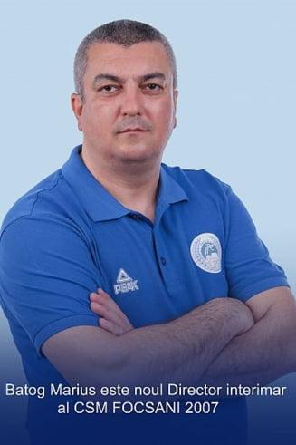 Profesorul/antrenor de atletism Marius Batog este noul director interimar al CSM Focsani 2007