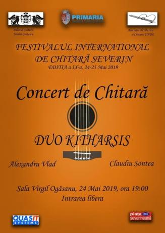 Programul Festivalului International de Chitara SEVERIN Drobeta Turnu Severin, editia a IX-a, 24-25 Mai 2019