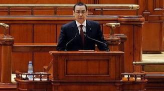 """Promisiunile lui Ponta in Parlament: Mai putine OUG, legea insolventei si fara """"pomeni sociale"""" (Video)"""