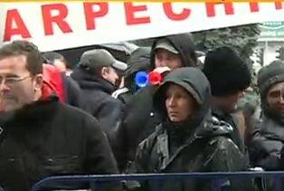 Protest Oltchim, la Ministerul Economiei: Un Guvern de mincinosi, niste ticalosi!