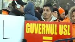 Protest PDL in Bucuresti si in mai multe orase din tara: Guvernul USL = Guvernul 7 centi