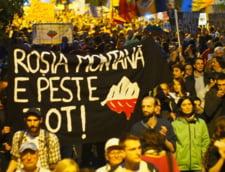 Protest Rosia Montana in Bucuresti
