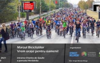 """Protest al biciclistilor din Capitala, sub sloganul """"Vrem orase pentru oameni"""" / Mars de doua ore prin locuri cheie ale orasului / Posibile restrictii de trafic"""