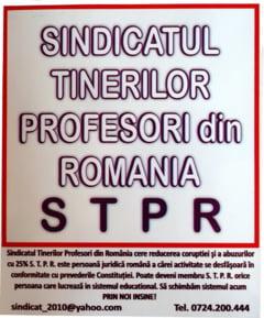 Protest al profesorilor tineri la Inspectoratul Scolar Bucuresti