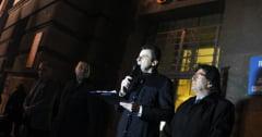 Protest anemic, de 15 minute, a 80 de liberali, la Timisoara, impotriva guvernului PSDragnea - Foto