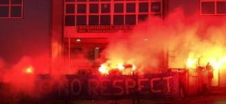 Protest in Gruia organizat de fanii CFR Cluj, inainte de meciul cu FCSB - FOTO