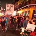 Protest inedit al unor dansatoare de striptease (Video & Galerie foto)