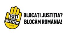 Protest inedit de sustinere a magistratilor: Manifestantii blocheaza o strada din Cluj (Video)