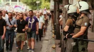 Protest la Atena fata de noul plan de ajutor - mii de oameni, in strada