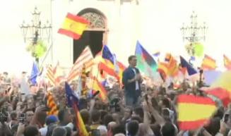 Protest la Barcelona impotriva celor care cer independenta Cataloniei