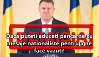 """Protest la Cotroceni pentru libertatea lui Liviu Dragnea: """"Doar pentru patriotii adevarati!"""""""