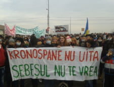 "Protest la Sebes fata de constructia unei fabrici: ""Nu fi fraier, c-o sa ramai fara aer!"""