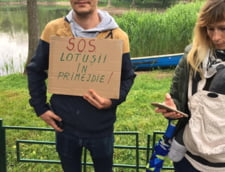 Protest pentru salvarea Lacului Tei din Sectorul 2