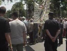 Protest spontan CFR la Ministerul Transporturilor (Video)