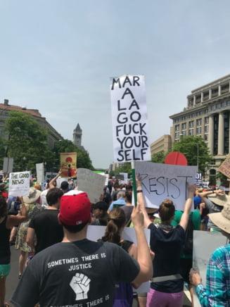 Protest urias la Washington: Pana si o vedeta de Oscar a iesit in strada impotriva lui Trump (Foto)