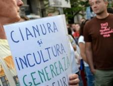 Protestatarii din Bucuresti au marsaluit pe bulevard, intre Piata Universitatii si Piata Victoriei