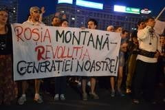 "Proteste Rosia Montana, ziua 22: Flashmob cu ""Oda bucuriei"" (Galerie foto)"