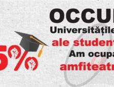 Proteste ale studentilor: Si-au petrecut noaptea intr-un amfiteatru, din cauza slabei finantari a educatiei