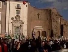 Proteste de amploare la Roma, fata de politica lui Berlusconi
