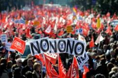 Proteste in Spania fata de noul cod al muncii (Video)