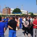 Proteste la Oltchim Ramnicu Valcea: Muncitorii cer plata salariilor restante (Video)