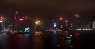 Proteste pro-democratie la Hong Kong, in ultimele orele ale lui 2019. Spectacolul de artificii a fost anulat