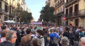 Proteste spontane in Barcelona, dupa ce liderii miscarii separatiste catalane au fost condamnati (Foto&Video)