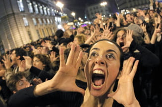 Proteste violente in Madrid: mii de oameni nemultumiti de masurile de austeritate (Galerie foto)