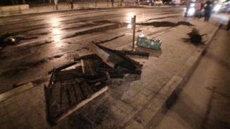 Protestele din Capitala si dezastrul care a ramas in urma (Galerie foto)