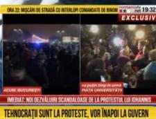Protestele vazute la Romania TV: Tehnocratii si sorosistii, in strada. Iohannistii au batut un jandarm (Galerie foto)