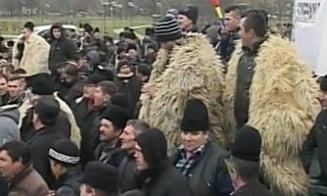 Protestul ciobanilor: Amenzi intre 500 si 20.000 de lei date oierilor pentru violente