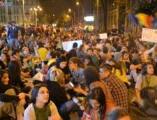 Protestul pentru Rosia Montana, ziua 6: Sarbatoare pentru suporteri dupa meciul cu Ungaria