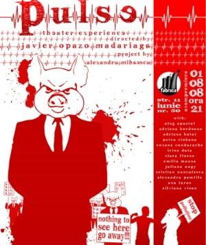 Pulse, un spectacol de teatru cu text, masti si media