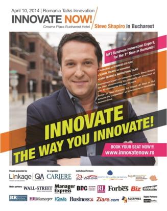 """Puterea inovatiei si eficienta in business, la conferinta """"Innovate Now!"""""""