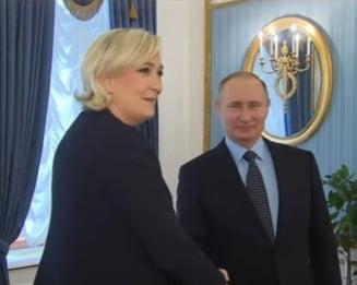 Putin i-a spus lui Le Pen ca nu va influenta alegerile din Franta. Liderul Frontului National vrea sa ridice sanctiunile Rusiei
