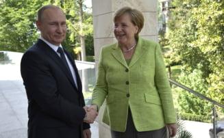 Putin merge la Berlin sa se intalneasca cu Merkel