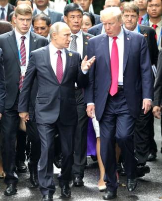 Putin raspunde criticilor aduse de Trump: Pot duce la cele mai grave consecinte. Atacul chimic din Siria, o inventie