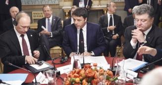 Putin s-a intalnit cu Porosenko, la un mic dejun - negocieri dificile, pline de dezacorduri (Video)