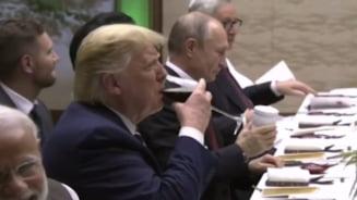 Putin si-a adus de acasa un termos cu ceai la dineul liderilor mondiali de la Osaka (Video)