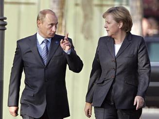 """Putin vrea sa continue dialogul """"pretios"""" cu Merkel, in problema ucraineana"""