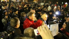 REACEsII LA PROTESTE - Presedintele Iohannis in fruntea unei noi mineriade
