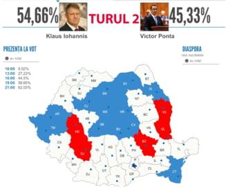 REZULTATE ALEGERI PREZIDENTIALE 2014. BEC a anuntat rezultatele oficiale de la ora 09:00, dupa numararea voturilor din 99,07% din sectii. IOHANNIS este noul PRESEDINTE al ROMANIEI