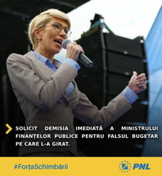 """Raluca Turcan ii cere demisia lui Teodorovici """"pentru falsul bugetar pe care l-a girat"""""""
