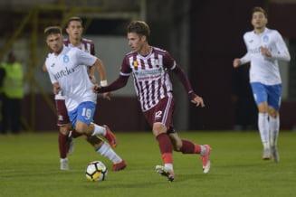 Rapid Bucuresti invinge in Liga 3 la Faurei, unde Banel Nicolita a fost eliminat dupa un fault dur