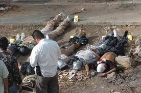 Razboiul drogurilor din Mexic: 40 de morti in 24 de ore