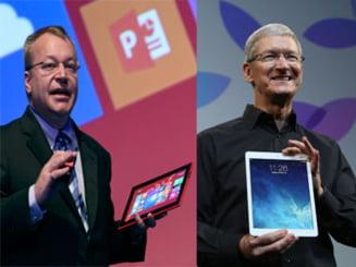 Razboiul tabletelor noi: iPad Air de la Apple contra Nokia Lumia 2520 - Care e mai tare (Video)
