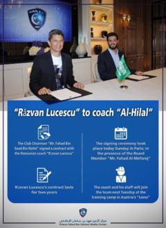 Razvan Lucescu a fost prezentat oficial la Al-Hilal