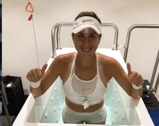 Reactia Belindei Bencici dupa victoria in fata Simonei Halep de la Dubai