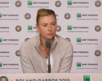 Reactia Mariei Sharapova dupa eliminarea de la Roland Garros